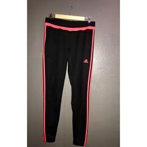 Neon Pink Adidas Pants